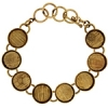 Bezel Handmade Bracelet 5/8in X 4mm Round Links Antique Brass